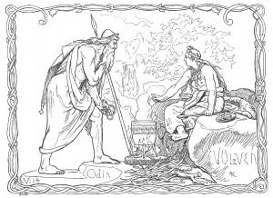 Odin_og_Völven_by_Frølich